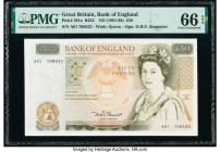 First A01 Prefix Great Britain Bank of England 50 Pounds ND (1981-88) Pick 381a PMG Gem Uncirculated 66 EPQ.   HID09801242017  © 2020 Heritage Auction...