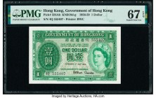 Hong Kong Government of Hong Kong 1 Dollar 1.7.1958 Pick 324Ab KNB19d-g PMG Superb Gem Unc 67 EPQ.   HID09801242017  © 2020 Heritage Auctions | All Ri...
