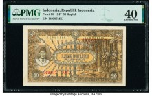 Indonesia Republik Indonesia 50 Rupiah 1947 Pick 28 PMG Extremely Fine 40.   HID09801242017  © 2020 Heritage Auctions | All Rights Reserved
