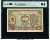 Indonesia Republik Indonesia 400 Rupiah 23.8.1948 Pick 35a PMG Choice Uncirculated 64.   HID09801242017  © 2020 Heritage Auctions | All Rights Reserve...