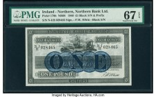 Ireland - Northern Northern Bank Limited 1 Pound 1940 Pick 178b PMG Superb Gem Unc 67 EPQ.   HID09801242017  © 2020 Heritage Auctions | All Rights Res...