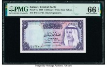 Kuwait Central Bank of Kuwait 1/2 Dinar 1968 Pick 7a PMG Gem Uncirculated 66 EPQ.   HID09801242017  © 2020 Heritage Auctions | All Rights Reserved