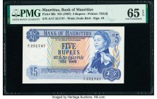 Mauritius Bank of Mauritius 5 Rupees ND (1967) Pick 30b PMG Gem Uncirculated 65 EPQ.   HID09801242017  © 2020 Heritage Auctions | All Rights Reserved