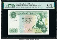 Mauritius Bank of Mauritius 25 Rupees ND (1967) Pick 32b PMG Choice Uncirculated 64 EPQ.   HID09801242017  © 2020 Heritage Auctions | All Rights Reser...