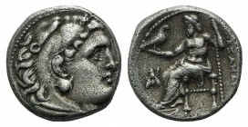 Kings of Macedon, Philip III Arrhidaios (323-317 BC). AR Drachm (15mm, 4.17g, 9h). In the name of Alexander III, Magnesia ad Maeandrum, c. 323-319 BC....