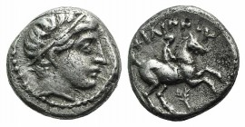 Kings of Macedon, temp. Philip III – Kassander, c. 323/2-315 BC. AR 1/5 Tetradrachm (11mm, 2.39g, 9h). In the name and types of Philip II, Amphipolis....