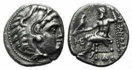 Kings of Macedon, Antigonos I Monophthalmos (Strategos of Asia, 320-306/5 BC, or king, 306/5-301 BC). AR Drachm (18mm, 3.96g, 12h). In the name and ty...