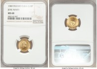 "Republic gold Piefort ""Jose Marti"" 10 Pesos 1989 MS68 NGC, KM-P14. Mintage: 30. An impressive and incredibly scarce specimen, exhibiting virtually unm..."