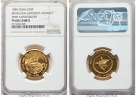 "Republic gold Proof ""Moncada Garrison Assault - 35th Anniversary"" 50 Pesos (1/2 oz) 1989 PR68 Cameo NGC, KM332. Mintage: 150.   HID09801242017  © 2020..."