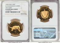 "Republic gold Proof ""XI Pan-American Games - High Jump"" 50 Pesos 1990 PR68 Ultra Cameo NGC, KM322. Mintage: 15.   HID09801242017  © 2020 Heritage Auct..."