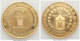 "Republic gold Proof ""Restoration of the Convent of St. Clara of Assisi"" Medal ND, 45mm. 62.07gm. A very rare medal that was reportedly one of just 5 p..."