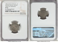 Republic copper-nickel Proof Piefort Essai Centavo 1892 PR63 NGC, KM-E18, Gomez-98. An incredibly fleeting and well-provenanced double-weight pattern,...