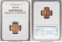 Republic Centavo 1939 MS65 Red NGC, KM17. Very highly graded for the issue, showcasing full red color that brightens as the luster wheels around the f...
