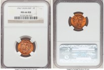 Republic Centavo 1947 MS66 Red NGC, KM17. Brilliant full mint red with only 3 pieces ranking a point finer at NGC.   HID09801242017  © 2020 Heritage A...