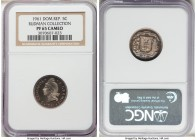 Republic Proof 5 Centavos 1961 PR65 Cameo NGC, KM18 (10 known), Gomez-107. The rarest Proof date in the series, and one that is rarely seen by collect...