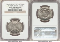 Republic Mint Error - Struck on Foreign Planchet 1/2 Peso 1981 MS62 NGC, cf. KM52 (for type). 11.20gm. Struck on a US 50 Cent (1/2 Dollar) Planchet. A...