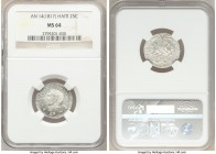Republic 25 Centimes L'An 14 (1817) MS64 NGC, KM15.1. Essentially gem, with heavy die polish and resplendent mint luster over both sides.   HID0980124...