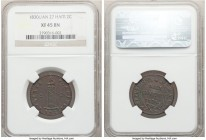 Republic 2 Centimes L'An 27 (1830) XF45 Brown NGC, KM-A22.  HID09801242017  © 2020 Heritage Auctions | All Rights Reserved