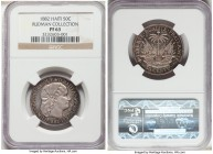 Republic Proof 50 Centimes 1882-(a) PR63 NGC, Paris mint, KM47, Arroyo-109. Typically a rather unremarkable issue, the 1882 carries the second highest...