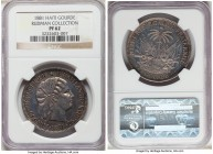Republic Proof Gourde 1881-(a) PR62 NGC, Paris mint, KM46, Arroyo-121. Only the third example of this Proof first date of issue we have encountered, a...