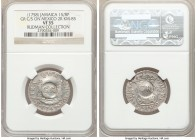 British Colony Counterstamped 1 Shilling 8 Pence ND (1758) VF35 NGC, KM4.3 (this coin), Prid-6. Displaying GR counterstamp on the obverse and reverse ...