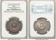 British Colony Counterstamped 3 Shilling 4 Pence ND (1758) VF20 NGC, KM7 (this coin), Prid-5 (same). Displaying GR counterstamp on a Ferdinand VI 4 Re...