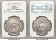 British Colony Counterstamped 6 Shilling 8 Pence ND (1758) XF45 NGC, KM8.2, Prid-4. Displaying GR counterstamp on a Ferdinand VI 8 Reales 1757 Mo-MM f...