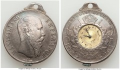 Maximilian Peso Converted into a Pocket Watch 1866-Mo VF, Mexico City mint, cf. KM388.1 (for type). 37mm. 40.86gm. A most intriguing curiosity piece, ...
