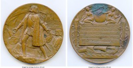 """Columbian Exposition"" bronze Award Medal 1893 AU (verdigris), 76mm. 209.05gm. This important award medal features an obverse designed by Augustus Sai..."