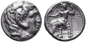 KINGDOM of MACEDON.Alexander III 'the Great',327-323 BC.AR Tetradrachm  Condition: Very Fine  Weight: 16.96gr Diameter: 25mm