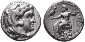 KINGDOM of MACEDON.Alexander III 'the Great',327-323 BC.AR Tetradrachm  Condition: Very Fine  Weight: 16.97 Diameter: 24mm