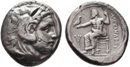 KINGDOM of MACEDON.Alexander III 'the Great',327-323 BC.AR Tetradrachm  Condition: Very Fine  Weight: 16.96 Diameter: 24mm