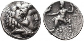 KINGDOM of MACEDON.Alexander III 'the Great',327-323 BC.AR Tetradrachm  Condition: Very Fine  Weight: 16.65gr Diameter: 26mm