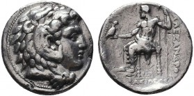 KINGDOM of MACEDON.Alexander III 'the Great',327-323 BC.AR Tetradrachm  Condition: Very Fine  Weight: 17gr Diameter: 27mm