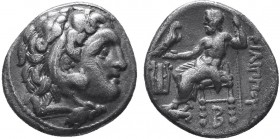 KINGDOM of MACEDON.Alexander III 'the Great',327-323 BC.AR Drachm  Condition: Very Fine  Weight: 4.19gr Diameter: 18mm