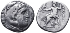 KINGDOM of MACEDON.Alexander III 'the Great',327-323 BC.AR Drachm  Condition: Very Fine  Weight: 4.11gr Diameter: 18mm