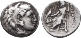 KINGDOM of MACEDON.Alexander III 'the Great',327-323 BC.AR Drachm  Condition: Very Fine  Weight: 4.12gr Diameter: 18mm
