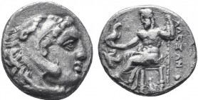 KINGDOM of MACEDON.Alexander III 'the Great',327-323 BC.AR Drachm  Condition: Very Fine  Weight: 3.97gr Diameter: 17mm