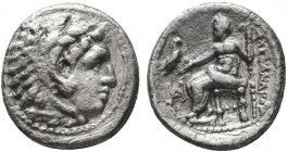 KINGDOM of MACEDON.Alexander III 'the Great',327-323 BC.AR Drachm  Condition: Very Fine  Weight: 4.10gr Diameter: 18mm