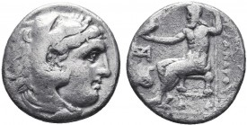 KINGDOM of MACEDON.Alexander III 'the Great',327-323 BC.AR Drachm  Condition: Very Fine  Weight: 4.0gr Diameter: 18mm