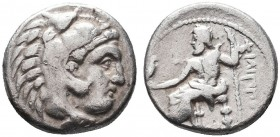 KINGDOM of MACEDON.Alexander III 'the Great',327-323 BC.AR Drachm  Condition: Very Fine  Weight:4.08gr  Diameter: 18mm