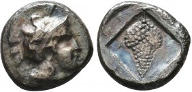 Cilicia. Soloi 410-375 BC. Stater AR Helmeted head of Athena right / ΣΟΛ, grape bunch, with two tendrils; all within incuse lozenge. good very fine SN...