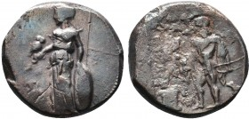 Pamphylia. Side circa 370-360 BC. Stater AR  Condition: Very Fine  Weight: 10.50gr Diameter: 22mm