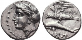 PAPHLAGONIA, Sinope. Circa 330-300 BC. AR Drachm or Siglos. Persic standard. Dionysi(os), magistrate. Head of nymph left, hair in sakkos / Sea-eagle s...