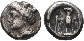 PAPHLAGONIA, Sinope. Circa 330-300 BC. AR Drachm  Condition: Very Fine  Weight: 3.92gr Diameter: 14mm