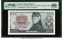 Austria Austrian National Bank 1000 Schilling 1966 (ND 1970) Pick 147a PMG Gem Uncirculated 66 EPQ.   HID09801242017  © 2020 Heritage Auctions | All R...