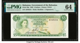 Bahamas Bahamas Government 5 Dollars 1965 Pick 20a PMG Choice Uncirculated 64.   HID09801242017  © 2020 Heritage Auctions | All Rights Reserved