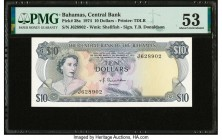 Bahamas Central Bank 10 Dollars 1974 Pick 38a PMG About Uncirculated 53.   HID09801242017  © 2020 Heritage Auctions | All Rights Reserved