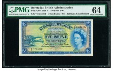 Bermuda Bermuda Government 1 Pound 1.10.1966 Pick 20d PMG Choice Uncirculated 64.   HID09801242017  © 2020 Heritage Auctions | All Rights Reserved