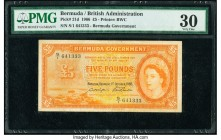 Bermuda Bermuda Government 5 Pounds 1.10.1966 Pick 21d PMG Very Fine 30.   HID09801242017  © 2020 Heritage Auctions | All Rights Reserved